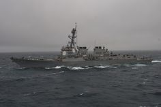 160608-N-EO381-009 ATLANTIC OCEAN (June 08, 2016) - The guided-missile destroyer USS Mason (DDG 87) conducts naval operations in the U.S. 6th Fleet area of operations in the Atlantic Ocean. Mason, deployed as part of the Eisenhower Carrier Strike Group, is conducting naval operations in the U.S. 6th Fleet area of operations in support of U.S. national security interests in Europe. (U.S. Navy photo by Mass Communication Specialist 3rd Class Casey J. Hopkins/Released)