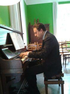 Mentre provo Rachmaninov prima di un mio concerto