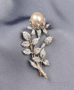 Edwardian Pearl and Diamond Brooch, Kirkpatrick & Co. | Sale Number 2471, Lot Number 622 | Skinner Auctioneers