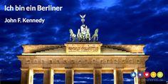 Ich bin ein Berliner #Zitat - Danke Geschenke