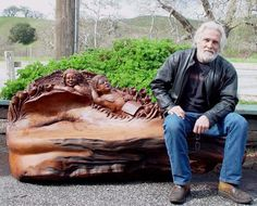 Steve Blanchard...Master Carver, creator of Itsyville  (miniature carved tree houses) and featured on Saw Dogs. His work is amazing!
