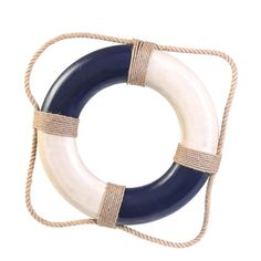 Handcrafted Nautical Decor Antique Life Ring Wall Decor