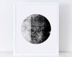 Circle Artwork Black and White Circle Print Minimalist