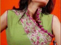 Diagonal cut neckline Kirti