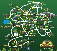 Plán Dinoparku   Plán Dinoparku Ostrava - Plán Dinoparku - Zábava, dinosauři, poučení, 3D kino - Unikátní výprava do druhohor