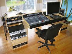 Joy Griffith Home Decor® – Audioroom Home Recording Studio Setup, Home Studio Desk, Studio Build, Studio Furniture, Audio Studio, Music Studio Room, Music Rooms, Mundo Musical, Feng Shui