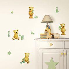 Teddy Bear Green Wall Decals