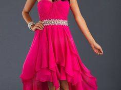 Savy got: High to low sweet dress! Which Prom Dress Are You Most Likely To Wear? cdn.jdbridal.com You are sweet, you also like to be cute and glamorous, but can't do those cute prom photos of your friends and you holding each others legs in a beauty gown.