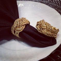 anel de guardanapo com cordao de sao francisco - Pesquisa Google