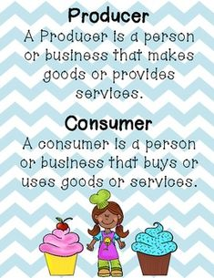 Here's a cupcake themed activity focused on producers and consumers.