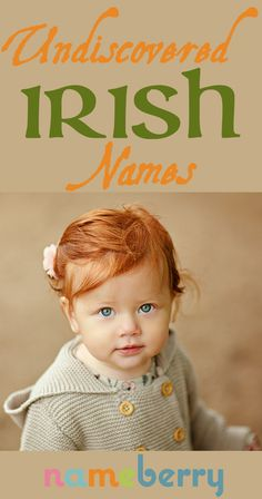 Incredibly enough, there are still plenty of undiscovered Irish names ripe for import. The names on our list are all widely used in contemporary Ireland, are accessible in terms of spelling and pronunciation, yet are virtually unknown in the US. Unusual Girl Names, Baby Girl Names Unique, Rare Baby Names, Unisex Baby Names, Baby Names And Meanings, Unique Irish Boy Names, Cute Girl Names, Irish Names For Boys, Names