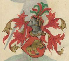 Armorial de la Table ronde.  Date d'édition :  1490-1500  Ms-4976  Folio 144r