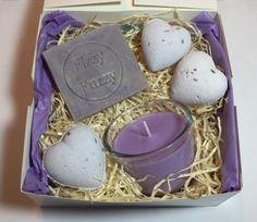 Lavender Gift Set Gift Box Hamper with Lavender by FizzyFuzzyUk