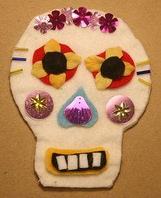 Art with Alyssa: Skull art for Día de los Muertos. Fun craft for the kids!