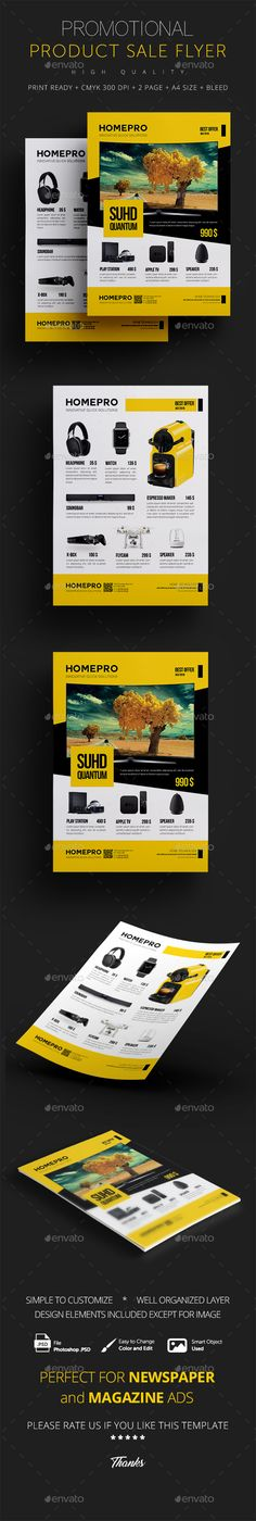 Product Flyer Template PSD. Download here: https://graphicriver.net/item/product-flyer/17017031?ref=ksioks