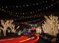 One million lights in downtown Forest City, North Carolina, creates Christmas town