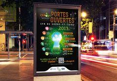 Affiche - CFA de Saône et Loire - ZONALPHA   Agence de communication Cfa, Broadway Shows, Menu, Advertising Agency, Corporate Design, Event Posters, Menu Board Design