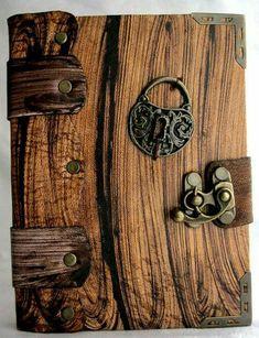 Handmade Journals, Handmade Books, Handmade Jewelry, Altered Books, Altered Art, Wooden Books, Leather Books, Book Binding, Leather Journal
