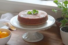 Tea Cake with Meyer Lemons and Rose Geraniums by Justine Hand Issue 16 · Going Green · April 25, 2014
