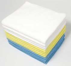 """Get a pack of 24 towels from Amazon for $14.79.Promising review: """"We just bought a new solid wood kitchen table and I read that you shouldn't use paper towel on it, so I bought these. It is my first time using microfiber cleaning cloths, and I love them! They are a good size and very soft. I use one for about two days and then throw it down to be washed and pull out another one. Although I bought it for the kitchen table, I will be using these cloths to clean the rest of the house, too. I…"""