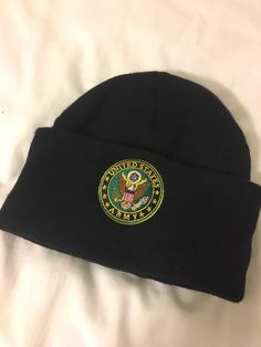 41aed90ae9c United States Army Seal Black Short Beanie. OS. Excellent condition.   fashion