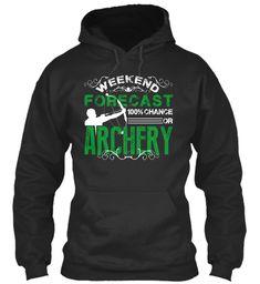 Weekend Forecast Archery Tee Jet Black Sweatshirt Front
