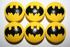 Batman Knobs, I could do this myself. The originals sell on US site Pottery Barn, and these are Etsy copies