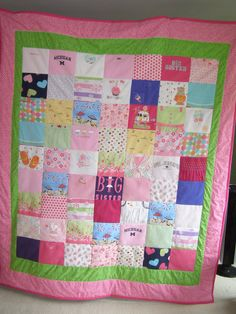 Keepsake quilt from baby clothes size 72 X90 by ohsewsnuggly, $250.00