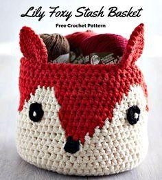 Crochet Foxy Stash Basket Free Pattern - 50 Free Crochet Fox Patterns - Crochet Fox Hat - Page 3 of 3 - DIY & Crafts