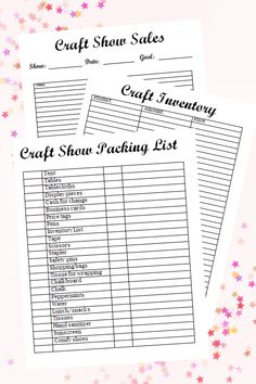 Craft Business Printable Pack - Organize your craft business with a craft show packing list, craft inventory printable, and craft sales sheet. Craft Show Booths, Craft Booth Displays, Craft Show Ideas, Retail Displays, Shop Displays, Merchandising Displays, Window Displays, Display Ideas, Cork Crafts