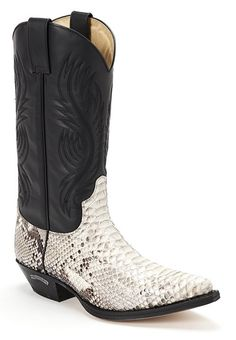 "Sendra Nightrider Python Boot. Does NOT say ""look at me"" at all. Maybe."
