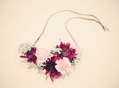 Green Wedding Shoes - DIY: Floral Necklace Necklaces and photography by: http://jenfujphotography.com