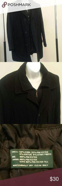 Men's Ralph Lauren wool blend coat 38R Gently worn, always dry cleaned. Zipper and buttons Ralph Lauren Jackets & Coats