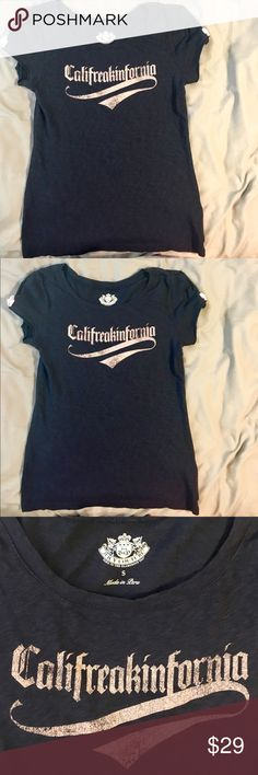 Juicy Couture Tee Never worn! Adorable, juicy Couture, Baby doll T-shirt, navy blue with baby pink writing and little feminine baby pink bows on each sleeve, size small, but can fit a medium. Very light weight, comfortable and stretchy Juicy Couture Tops Tees - Short Sleeve