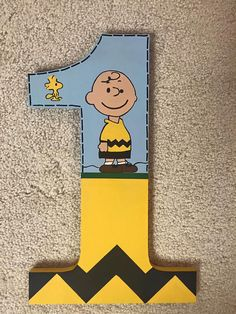 Charlie Brown First birthday photo prop by TrendyTotsLetters