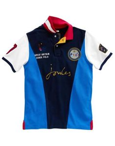 Joules Mens Polo Shirt Navy The Official Great Britain Canoe If