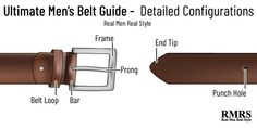 Planning to buy a belt? How do you choose the right belt size? This post is the ultimate guide to men's belts. Real Men Real Style, Real Man, Hole Punch, Men's Belts, Paper Punch, Drill Press