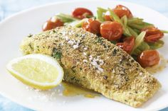Soy And Sesame Marinated Barramundi. Barramundi With Grilled Corn Salad. Pan Grilled Barramundi Fish With Lemon Garlic Butter Sauce. Fish Dishes, Seafood Dishes, Fish And Seafood, Seafood Recipes, Pasta Recipes, Cooking Recipes, Healthy Recipes, Main Dishes, Cooking Fish