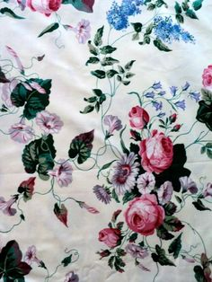 Shades of Pink Purple and Blue Floral by DocksideDesignsEtc, $10.50