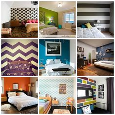 Looking for something fresh but don't want to commit to a new paint job? Try an accent wall!