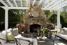 Outdoor Fireplace and Pergola....click to view larger...it's beautiful.