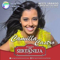 O Estação Sertaneja teve a presença de Camilla Castro, linda, talentosa, com uma voz de apaixonar qualquer cowboy...
