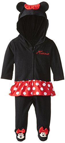 omg I Love this too <3 Disney Baby Girls Newborn Minnie Mouse Hooded Coverall with Skirt and Bow, Black, 3-6 Months Disney http://www.amazon.com/dp/B00KCX3CAK/ref=cm_sw_r_pi_dp_ydV8tb0J9XSAX