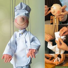 tutorial: wooden puppet with papier mache head, hands and feet