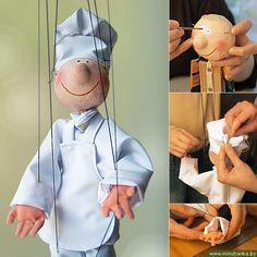 tutorial: wooden puppet with papier mache head, hands and feet
