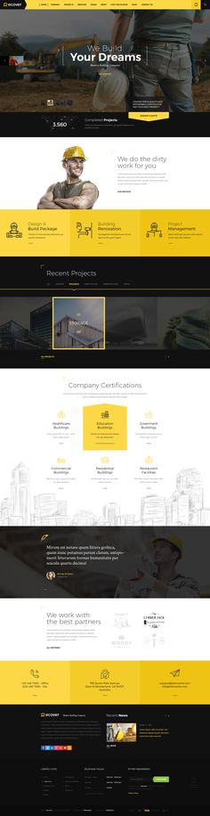 Recover - Construction & Building PSD Template - PSD Templates