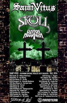 Long Live The Loud 666: SAINT VITUS,SKULL & WITCH MOUNTAIN U.S TOUR 2016