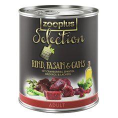 Animalerie  zooplus Selection Adult Bœuf faisan oie pour chien  24 x 800 g