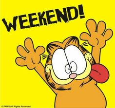 New Quotes Happy Weekend Feelings Ideas Garfield Pictures, Garfield Quotes, Garfield Cartoon, Garfield And Odie, Garfield Comics, Weekend Quotes, Its Friday Quotes, New Quotes, Happy Quotes