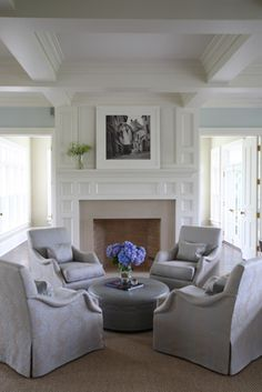 Eclectic Interior Design Group Four Chair Grouping